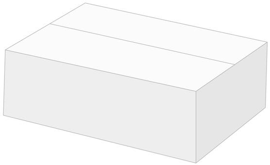 Cardboard box B2 white