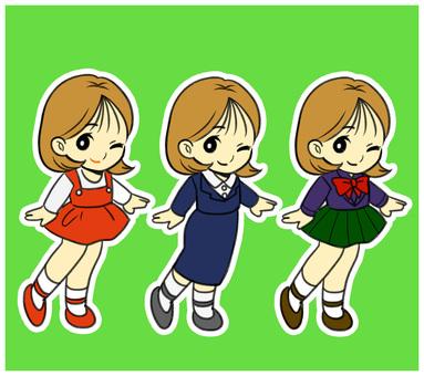 3 girls set
