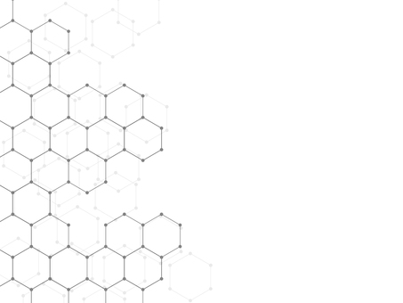 Background Hexagon line