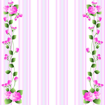 Dark pink rose frame