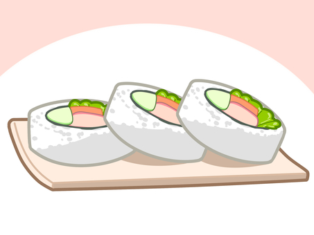 California roll served on dish