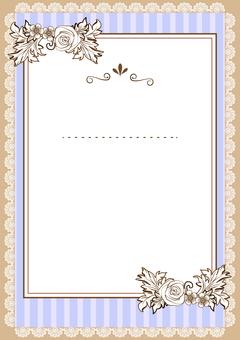 Vintage style decorative frame