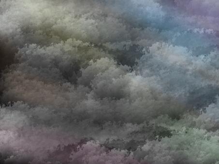배경 소재 구름 흑백 화려한