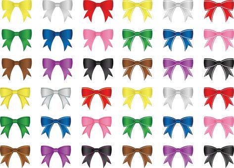 Ribbon Various colorful set