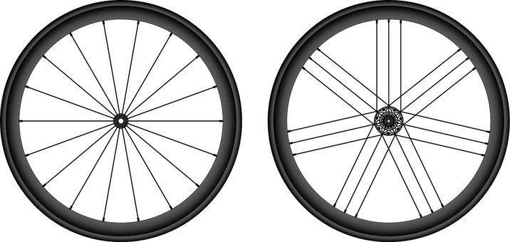 Road bike wheel