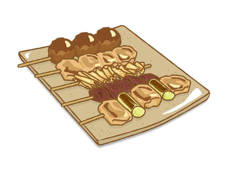 烤雞肉串拼盤