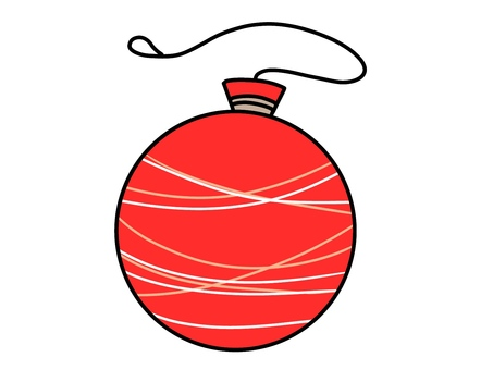 Illustration 02 of a red water balloon for summer festival
