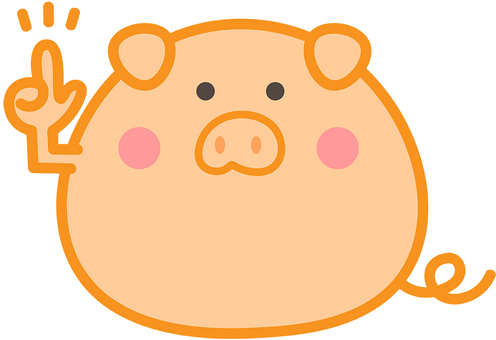 귀여운 돼지 그림
