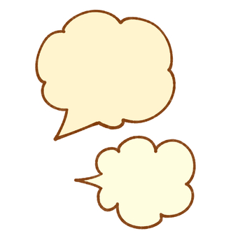 Two speech bubble marks