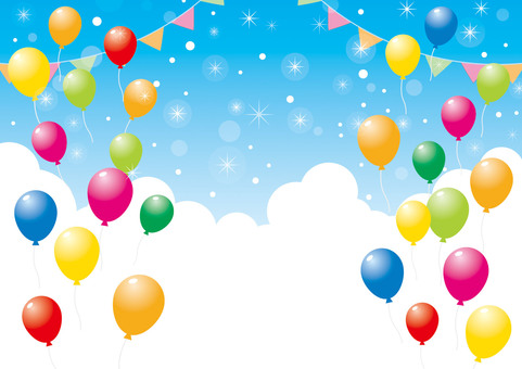 Balloons and sky _ background material 05