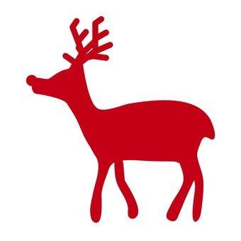 Xmas - reindeer silhouette