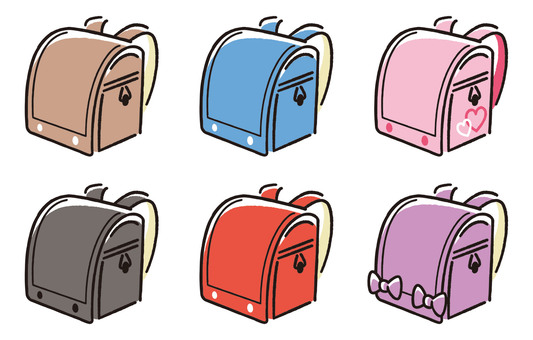 Various design school bags
