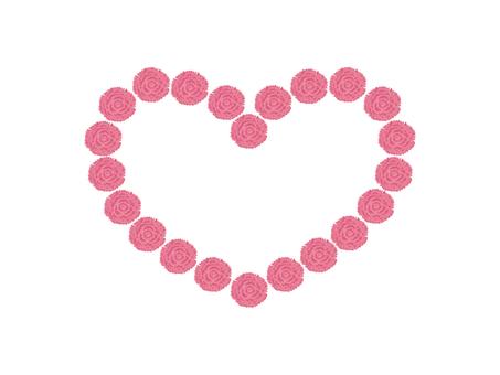 Heart carnation (pink)