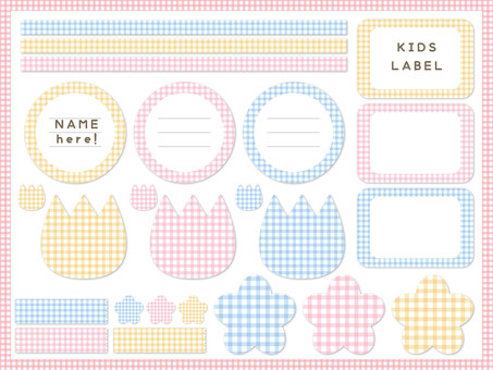 Gingham check label