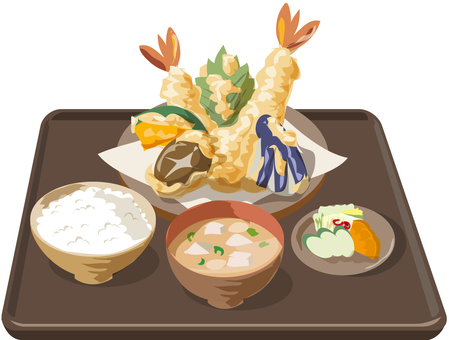 Tempura set with tray