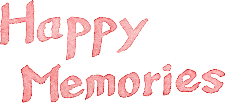 Happy Memories Watercolor Letter Pink
