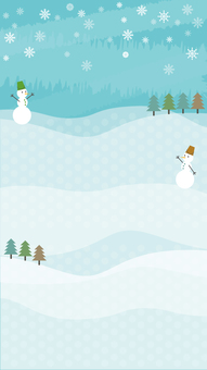Snowman wallpaper vertical
