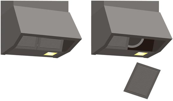 Range hood and filter