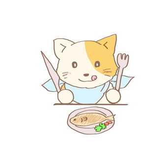 Cat eating