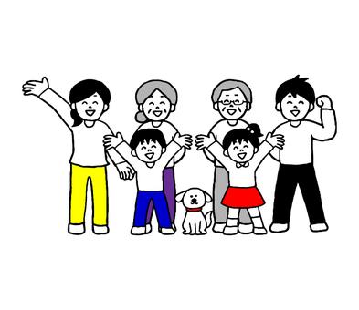 Three generation family (simple)
