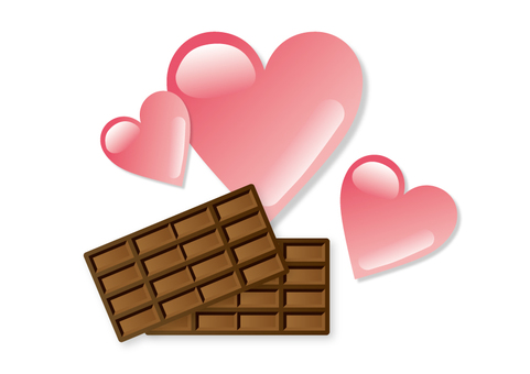 Heart and chocolate