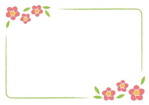 Cute flower postcard