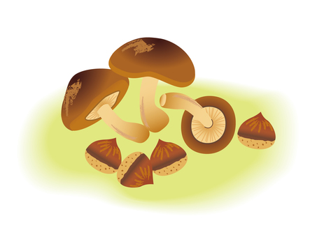 Mushrooms and chestnuts
