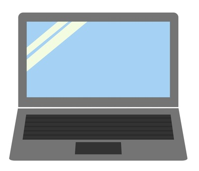Laptop computer (gray)