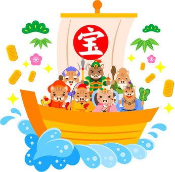 亥年の宝船