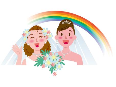 Marriage between women-Rainbow 3