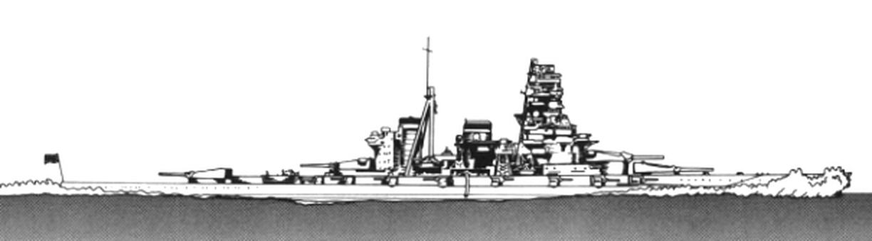 High-speed battleship Haruna