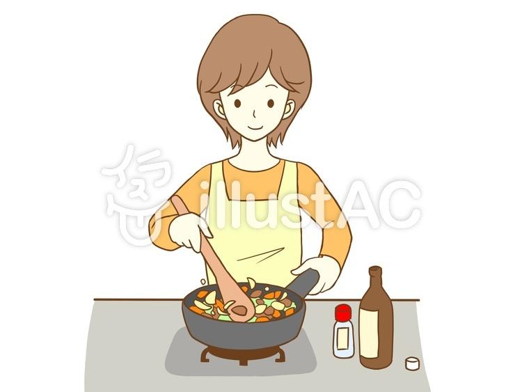 料理する女性イラスト No 1223200無料イラストならイラストac