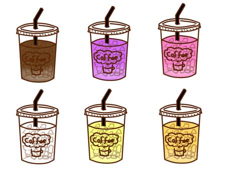 色々なカフェの飲み物