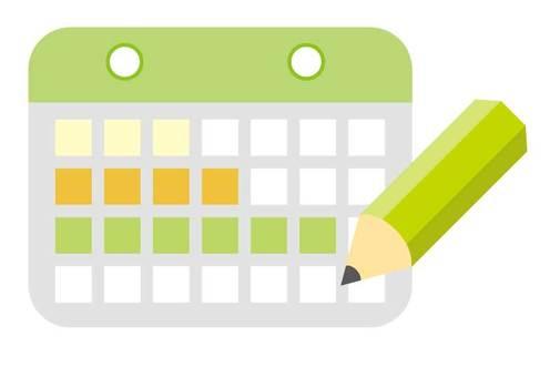 Calendar icon Green