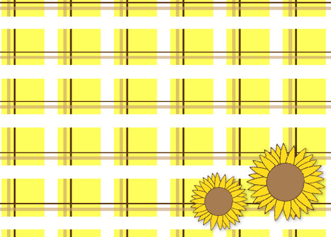 Sunflower check pattern -2