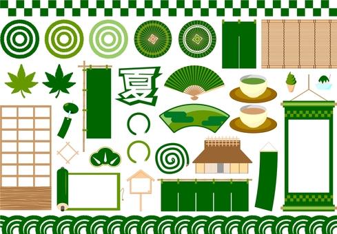 Japanese style set green