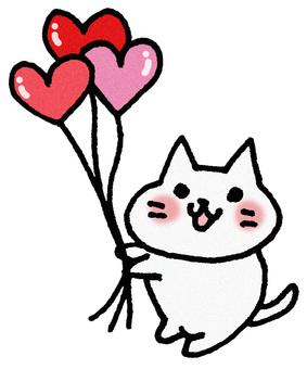 氣球心臟貓