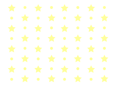 Star & dot pattern (yellow)