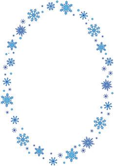 Snow crystal line line (vertical ellipse)