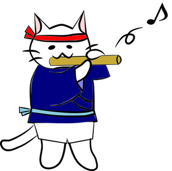 Festival Nyanko and a whistle