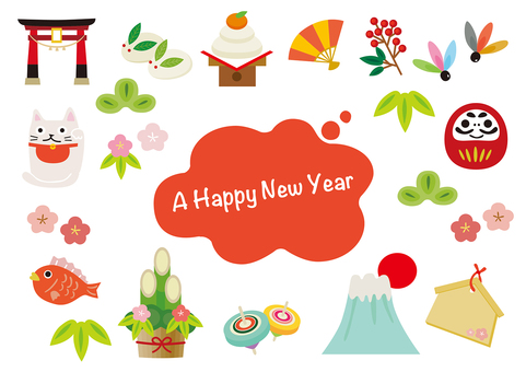 New Year illustrations