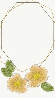 Flower frame hand drawn 2