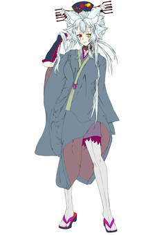 Natsumi Akeno, standing picture kimono, naked eye