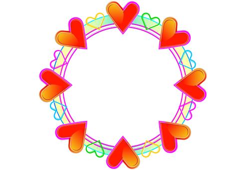 Heart frame frame full of circles