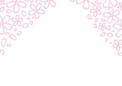 벚꽃 프레임 (눈가)