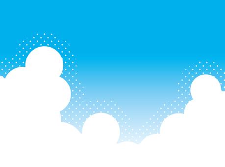 ポップな空と雲