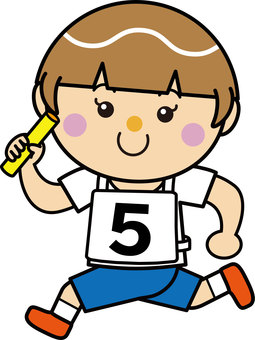 Girl 16_12 (running · baton relay)