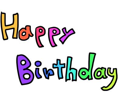Handwritten colorful HappyBirthday