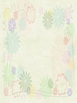 Flower frame Vertical length 2