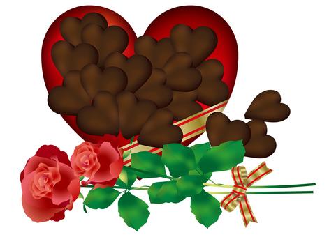 Heart Chocolate & Rose 13